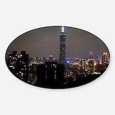 Taipei City Skyline Sticker (Oval)
