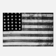 American Vintage Flag Bla Postcards (Package of 8)
