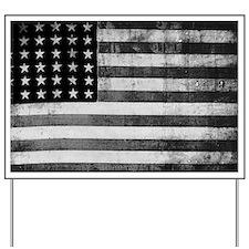 American Vintage Flag Black and White ho Yard Sign