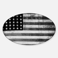 American Vintage Flag Black and Whi Decal