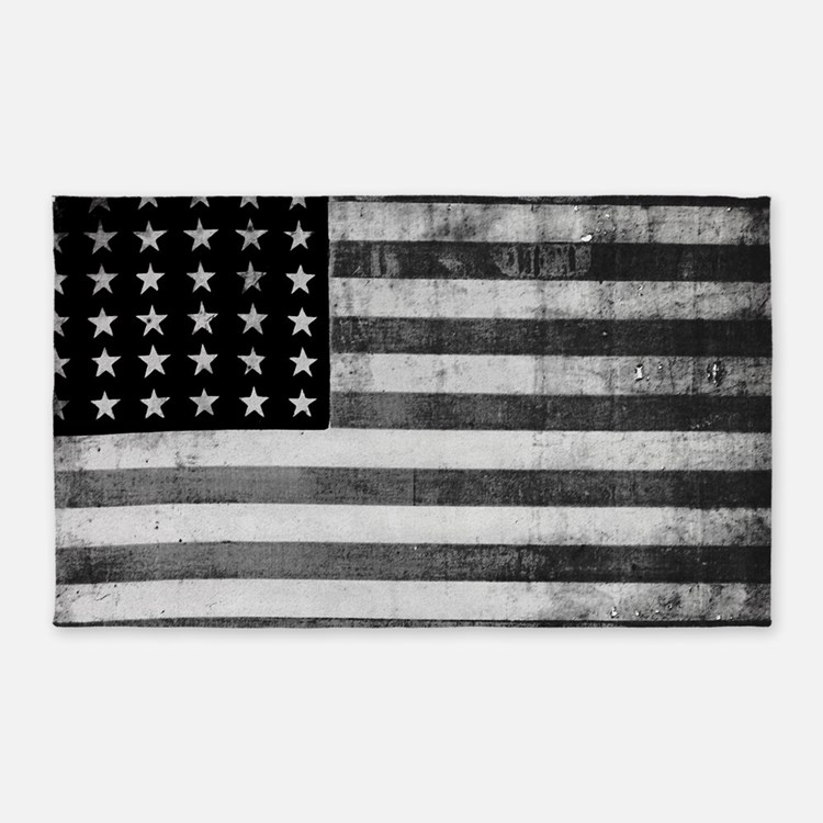 Black And White American Flag Rugs, Black And White ...