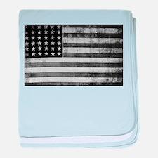 American Vintage Flag Black and White baby blanket