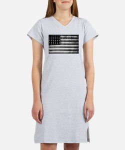 American Vintage Flag Black and Women's Nightshirt