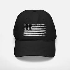 American Vintage Flag Black and White ho Baseball Hat