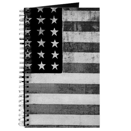 American Vintage Flag Black and White hori Journal by ...