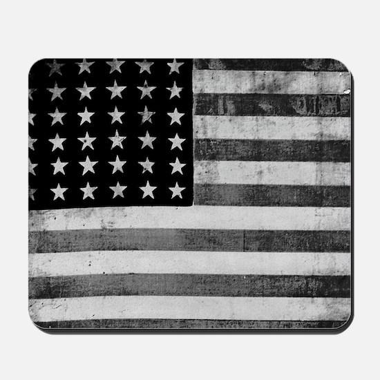 American Vintage Flag Black and White ho Mousepad