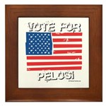 Vote for Pelosi Framed Tile