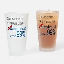 Berniecrat for the 99% Drinking Glass