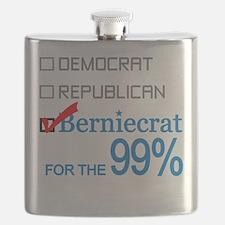 Berniecrat for the 99% Flask