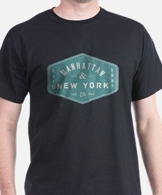 Manhattan New York City Vintage Logo light T-Shirt