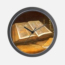 Van Gogh Still Life with Bible Wall Clock