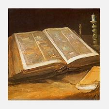 Van Gogh Still Life with Bible Tile Coaster