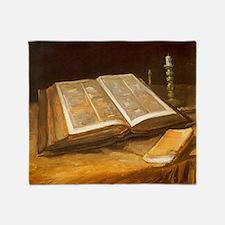 Van Gogh Still Life with Bible Throw Blanket