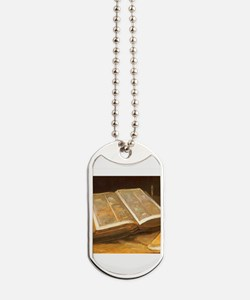Van Gogh Still Life with Bible Dog Tags