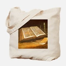 Van Gogh Still Life with Bible Tote Bag