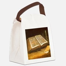 Van Gogh Still Life with Bible Canvas Lunch Bag