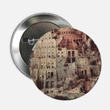 "Tower of Babel by Pieter Br 2.25"" Button (10 pack)"