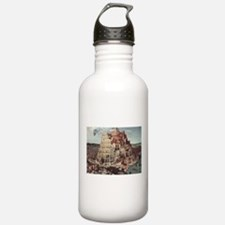 Tower of Babel by Piet Water Bottle