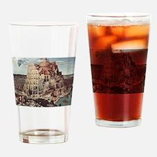 Tower of Babel by Pieter Bruegel Drinking Glass