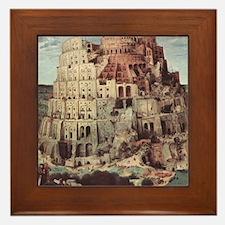 Tower of Babel by Pieter Bruegel Framed Tile