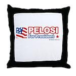 Pelosi for President Throw Pillow