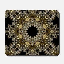 new age gold floral mandala Mousepad