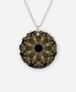 new age gold floral mandala Necklace