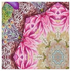 zen pink lotus flower hipster Poster