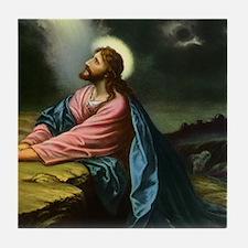 Vintage Jesus Christ Tile Coaster