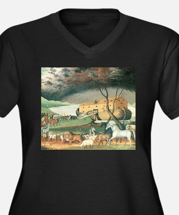 Noah's Ark by Edward Hicks Plus Size T-Shirt