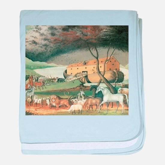 Noah's Ark by Edward Hicks baby blanket