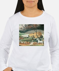 Noah's Ark by Edward Hicks Long Sleeve T-Shirt