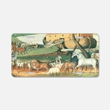 Noah's Ark by Edward Hicks Aluminum License Plate