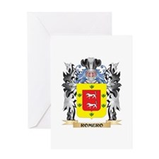Romero Coat of Arms - Family Crest Greeting Cards