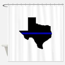 Thin Blue Line (Texas) Shower Curtain
