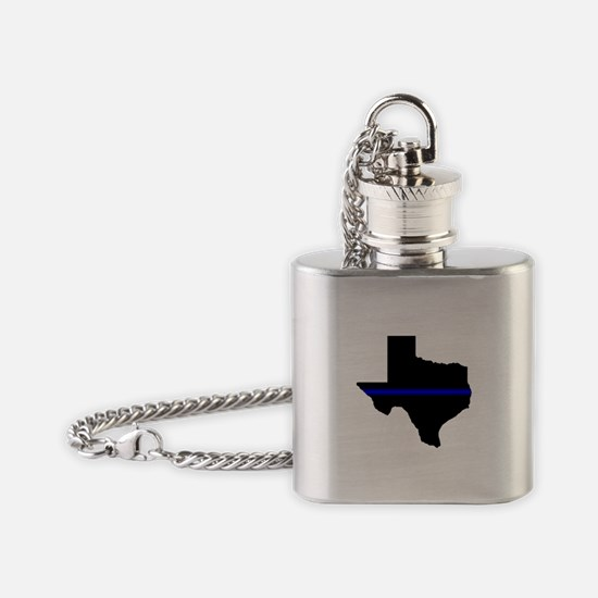Thin Blue Line (Texas) Flask Necklace
