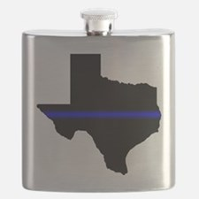 Thin Blue Line (Texas) Flask