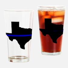 Thin Blue Line (Texas) Drinking Glass