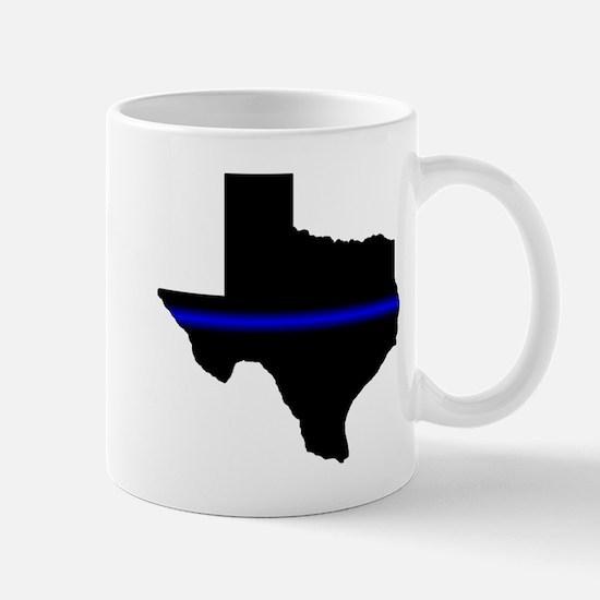 Thin Blue Line (Texas) Mugs