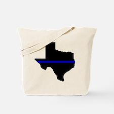 Thin Blue Line (Texas) Tote Bag