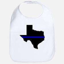 Thin Blue Line (Texas) Bib