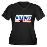 Billary 2008 Women's Plus Size V-Neck Dark T-Shirt