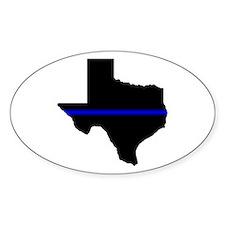 Thin Blue Line (Texas) Decal