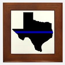 Thin Blue Line (Texas) Framed Tile