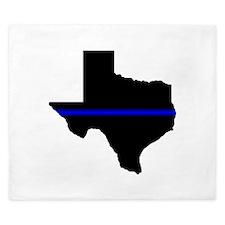 Thin Blue Line (Texas) King Duvet