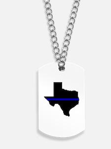 Thin Blue Line (Texas) Dog Tags