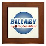 Billary for President Framed Tile