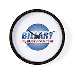 Billary for President Wall Clock
