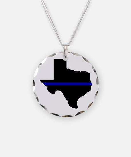 Thin Blue Line (Texas) Necklace