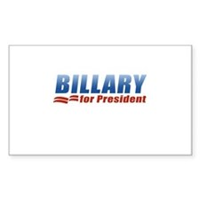 Billary for President Rectangle Decal